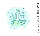 cartoon colored chemical test... | Shutterstock .eps vector #1198063354