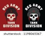 red army skull illustration for ... | Shutterstock .eps vector #1198065367