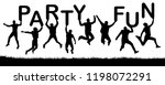 happy people jumping  hold the... | Shutterstock .eps vector #1198072291