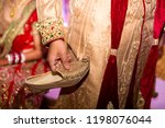 indian wedding and ceremony... | Shutterstock . vector #1198076044