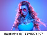 gorgeous high fashion disco... | Shutterstock . vector #1198076407