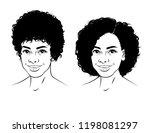 black and white linear... | Shutterstock .eps vector #1198081297