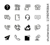 16 contact icons with send... | Shutterstock .eps vector #1198090864