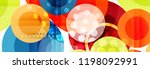 abstract colorful geometric... | Shutterstock .eps vector #1198092991