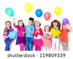 Big Group Of Happy Children...