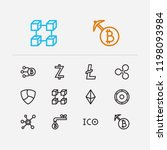 cryptocurrency icons set. coin...
