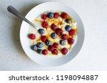 healthy breakfast semolina with ... | Shutterstock . vector #1198094887