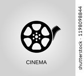 cinema icon. cinema symbol.... | Shutterstock .eps vector #1198098844