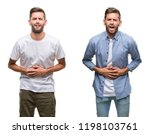 collage of young man wearing... | Shutterstock . vector #1198103761