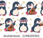 seamless pattern with cute... | Shutterstock .eps vector #1198105501