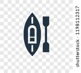 kayak vector icon isolated on...   Shutterstock .eps vector #1198112317