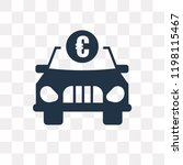 car with euro vector icon...   Shutterstock .eps vector #1198115467