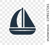 sailboat vector icon isolated... | Shutterstock .eps vector #1198117261