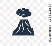 erupting volcano vector icon... | Shutterstock .eps vector #1198118614