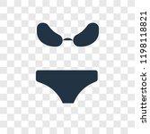 bikini vector icon isolated on... | Shutterstock .eps vector #1198118821