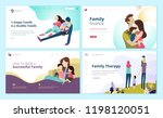 set of web page design... | Shutterstock .eps vector #1198120051