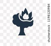 burning tree vector icon... | Shutterstock .eps vector #1198120984