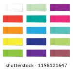 post note sticker set. paper... | Shutterstock .eps vector #1198121647