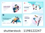 set of web page design... | Shutterstock .eps vector #1198122247