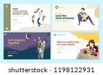 set of web page design... | Shutterstock .eps vector #1198122931