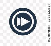 fast forward vector icon... | Shutterstock .eps vector #1198123894