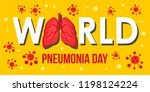 pneumonia disease day banner... | Shutterstock .eps vector #1198124224