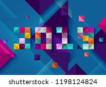 new year 2019. colorful poster... | Shutterstock .eps vector #1198124824