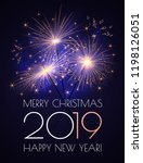 happy new 2019 year background... | Shutterstock .eps vector #1198126051