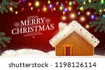 merry christmas cute background ... | Shutterstock .eps vector #1198126114