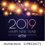 happy hew 2019 year  fileworks  ... | Shutterstock .eps vector #1198126171
