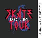 skate tour vector print   Shutterstock .eps vector #1198128751
