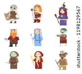 fantasy rpg game heroes.... | Shutterstock .eps vector #1198129567
