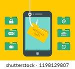phishing personal data hack... | Shutterstock .eps vector #1198129807