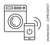 smart wash machine icon.... | Shutterstock .eps vector #1198132417