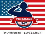 usa veterans day concept... | Shutterstock .eps vector #1198132534