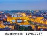Bridges Over Arno River In...