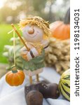 autumn decorations during the... | Shutterstock . vector #1198134031