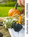 autumn decorations during the... | Shutterstock . vector #1198134061