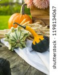 autumn decorations during the... | Shutterstock . vector #1198134067