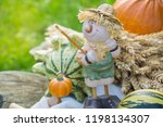 autumn decorations during the... | Shutterstock . vector #1198134307