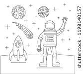 hello spaceman concept... | Shutterstock .eps vector #1198140157