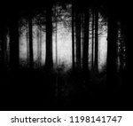 dark scary forest wallpaper ... | Shutterstock . vector #1198141747