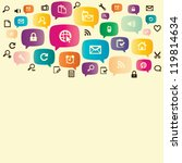 social media icon   Shutterstock .eps vector #119814634