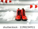 christmas concept with red... | Shutterstock . vector #1198154911
