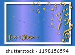 music notes staff background g...   Shutterstock .eps vector #1198156594