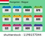 flat design of calendar months... | Shutterstock .eps vector #1198157044