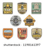 car repair service vintage... | Shutterstock .eps vector #1198161397
