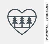 christmas tree heart toy... | Shutterstock .eps vector #1198163281