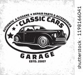 hot rod garage logo design ... | Shutterstock .eps vector #1198166041