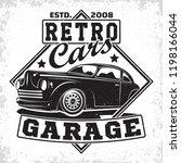 hot rod garage logo design ... | Shutterstock .eps vector #1198166044